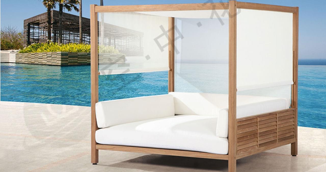 帝加柚木大床 时尚休闲家具现代家具户外家具户外椅子户外桌子藤艺沙发