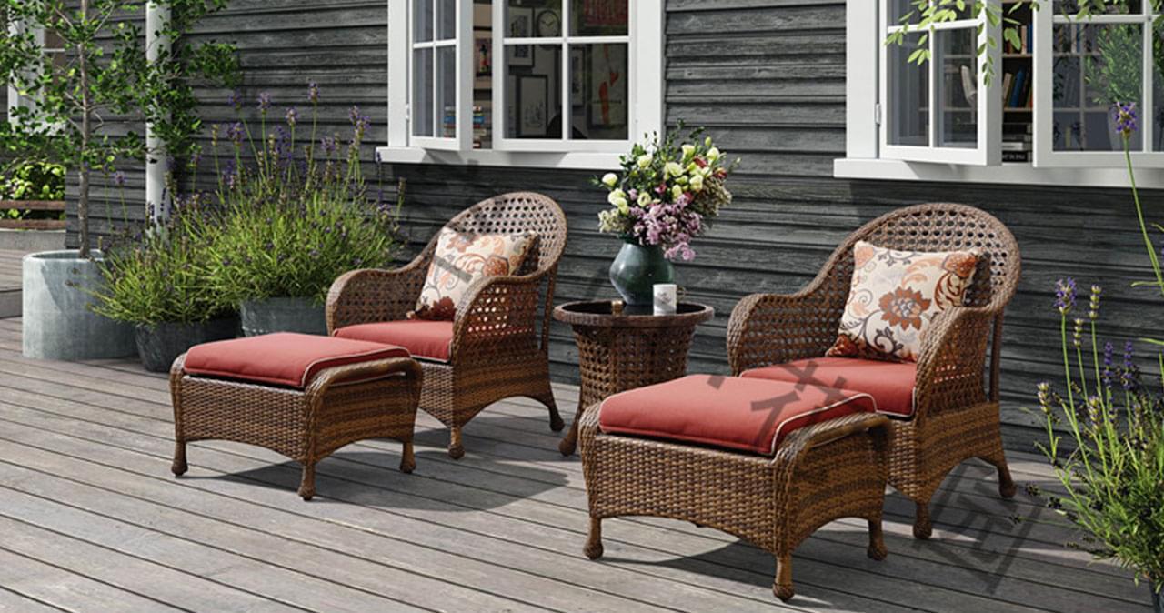 帝加迈阿密户外家具藤编阳台双人沙发组合套装 高品质时尚餐厅藤沙发
