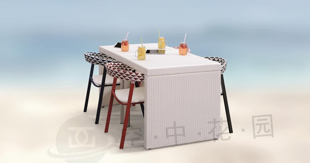 帝加积木创意户外家具组合 易拆装时尚组合阳台户外桌椅套装