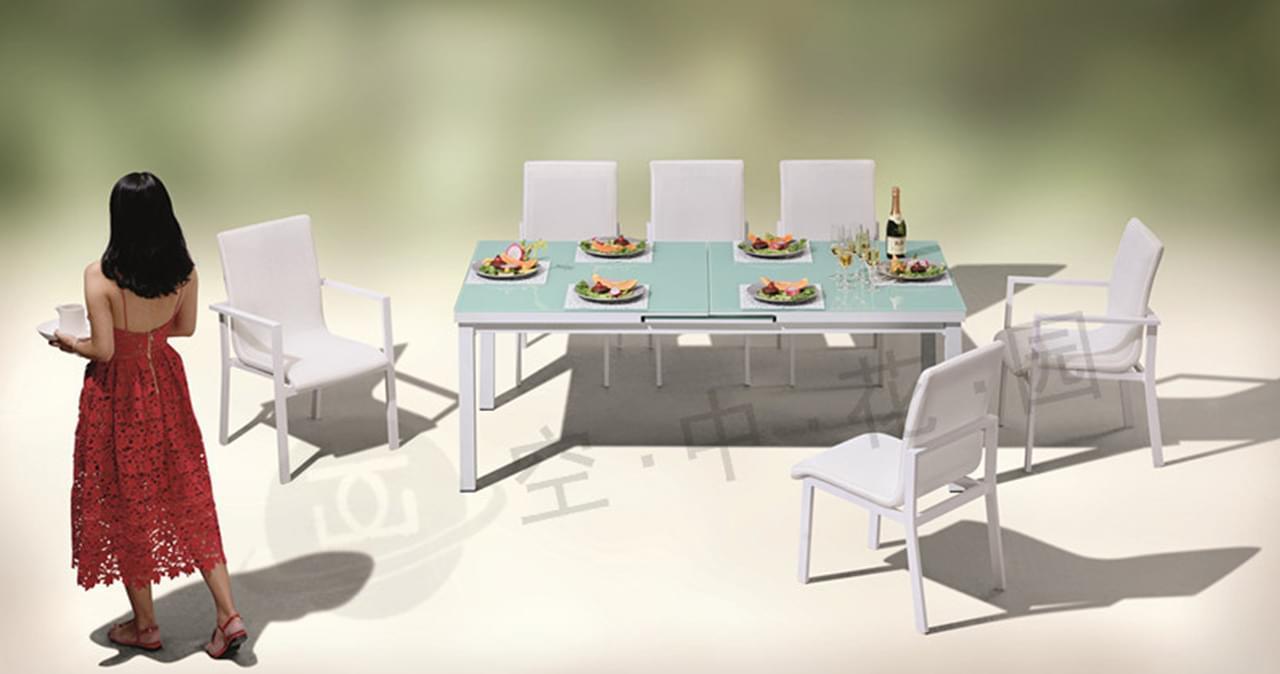 帝加三亚品质铸铝桌椅 阳台露天休闲桌椅户外家具 铝合金时尚桌椅组合